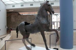 capitoline museum, bronze horse, rome, italy