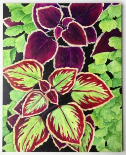 """Coleus"" 8x10"" Acrylic Paint on Claybord $135"