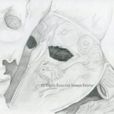 """Roman Mask"" 9x12"" Graphite on Drawing Paper"