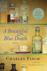 beautiful blue death, book cover, charles finch, charles lennox