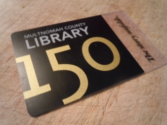 library card, multnomah county library