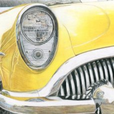 """Yellow Car"" 8x10"" Colored Pencil on Bristol"