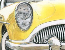"""Yellow Car"" 8x10"" Colored Pencil on Bristol"