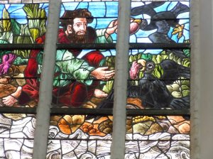 Who knew Heckle & Jeckle would be part of the Oude Kerk's stained glass collection!?