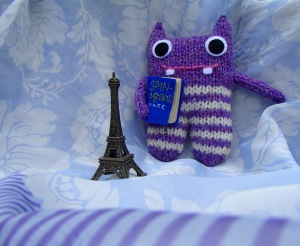 Finn McSpool likes to do his Godzilla impersonation with my Paris souvenir.