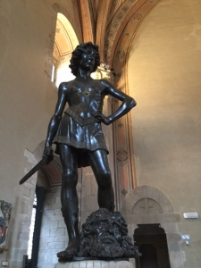 Donatello's David just hanging out at the Bargello.