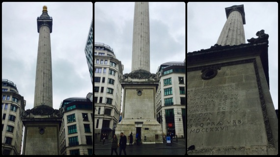 the monument, city of london, london
