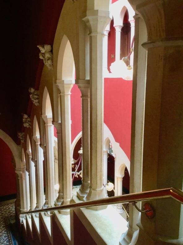 kilkenny castle, kilkenny, ireland, moorish stairs