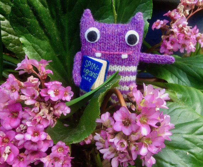 finn mcspool, beastie, crawcrafts beasties, flowers, garden, bergenia