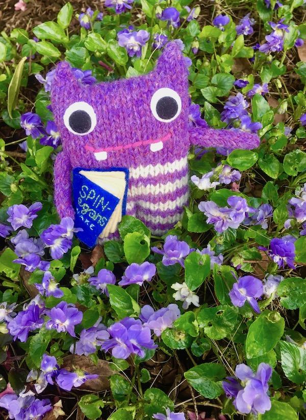 finn mcspool, beastie, crawcrafts beasties, flowers, garden, viola
