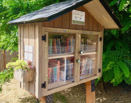 little free library, books, free books