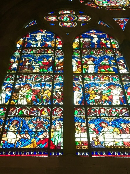 strasbourg, france, strasbourg cathedral, stained glass